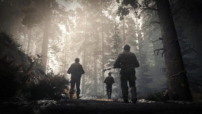 Alcuni soldati in perlustrazione in Call of Duty: WWII