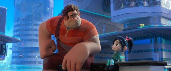 Ralph e Vanellope in una scena del film