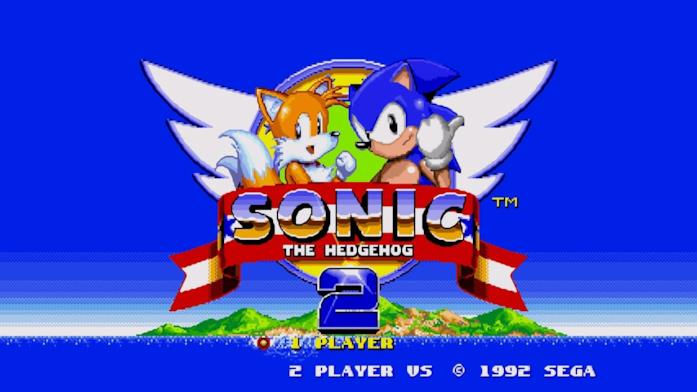 Tails così come appariva nel logo di Sonic 2