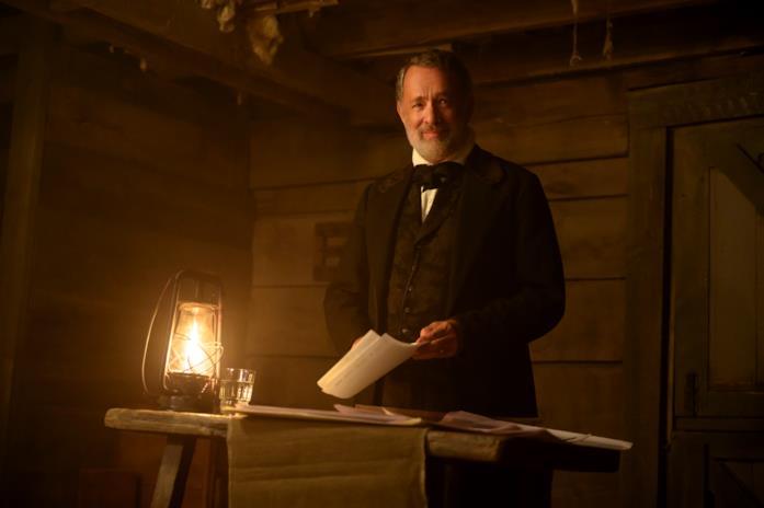 Tom Hanks durante una lettura