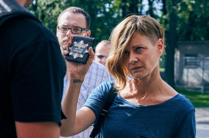 Malgorzata Kozuchowska in una scena del film I flagelli di Breslavia
