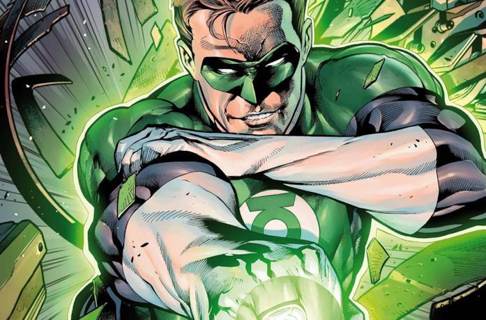 Lanterna Verde in una tavola DC Comics