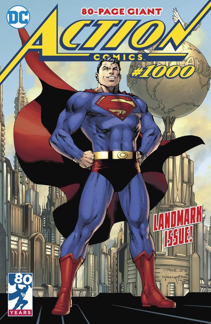 Copertina di Action Comics #1000, l'ultimo sul quale ha scritto Dan Jurgens