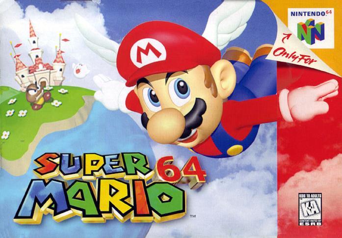 Super Mario 64, uno dei titoli più celebri di Nintendo