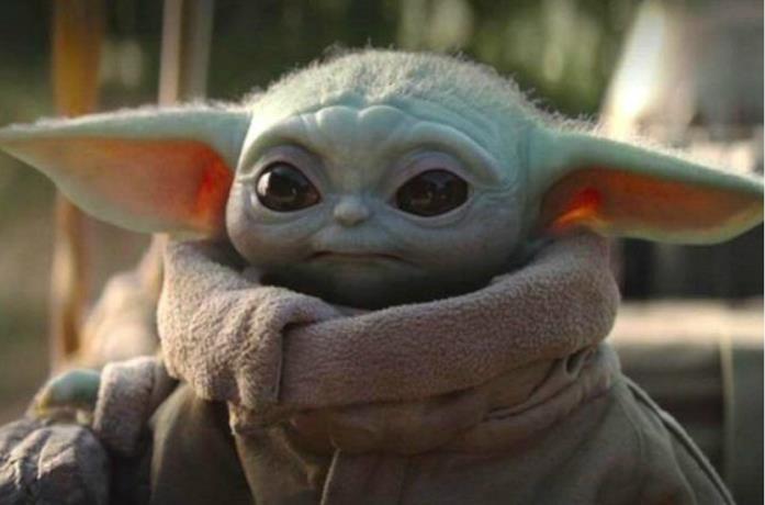 Un'immagine di Baby Yoda in The Mandalorian