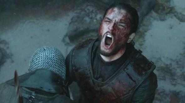 Jon Snow urla sul campo di battaglia