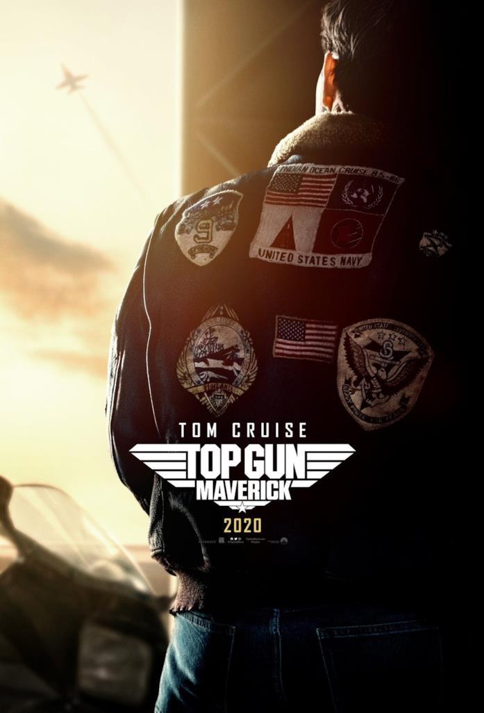 Tom Cruise nel poster di Top Gun: Maverick