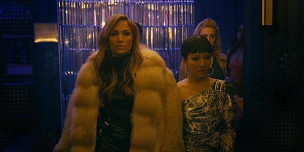 Jennifer Lopez in una scena di Hustlers