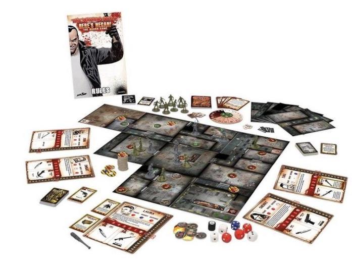 Una panoramica del gioco da tavolo The Walking Dead: Here's Negan!
