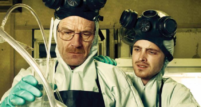Walter e Jesse in una scena di Breaking Bad
