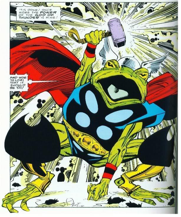 Thor trasformato in rana