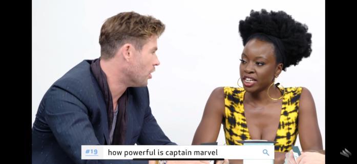 Danai e Chris sulla potenza di Captain Marvel