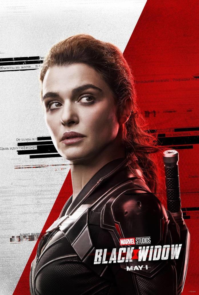 Melina nel poster di Black Widow