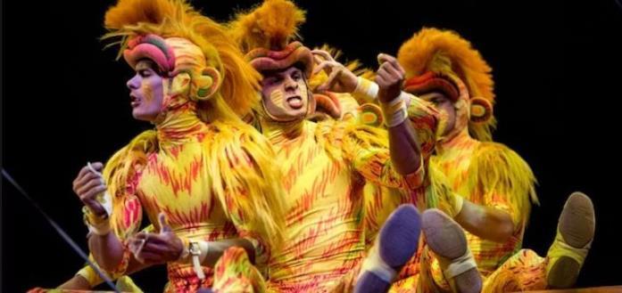 Alcuni dei protagonisti del Festival of the Lion King