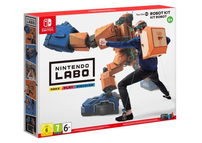 La confezione di Nintendo Labo: Robot Kit