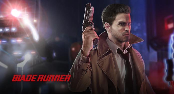 Artwork di Ray McCoy, il protagonista del videogioco Blade Runner del 1997