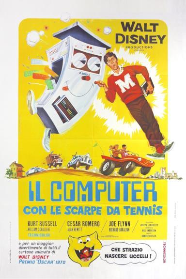 Poster Il computer con le scarpe da tennis