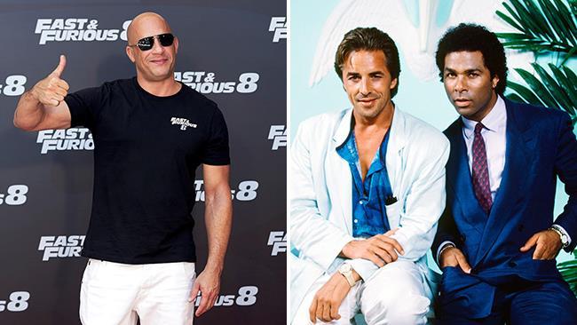 Vin Diesel alla presentazione di Fast 8 e i protagonisti di Miami Vice