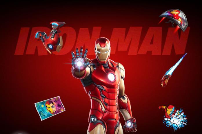 Immagine promozionale del costume di Iron Man in Fortnite