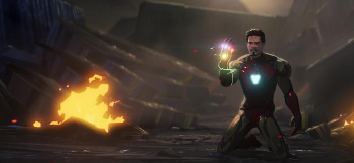 Tony Stark con il Guanto dell'Infinito