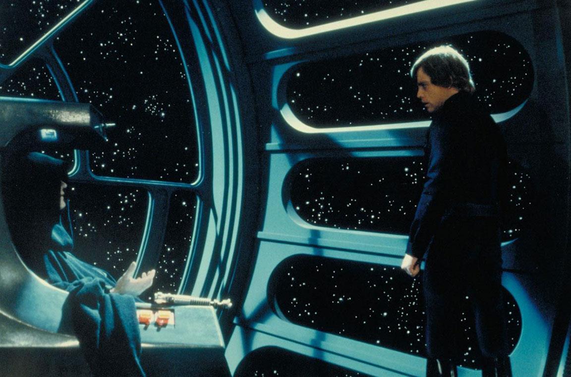 Luke Skywalker e l'Imperatore Palpatine
