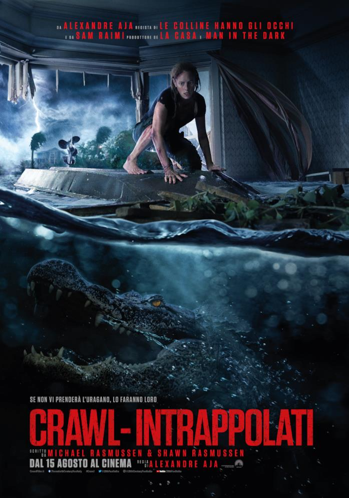 Crawl: il poster italiano del film, dal 15 agosto al cinema