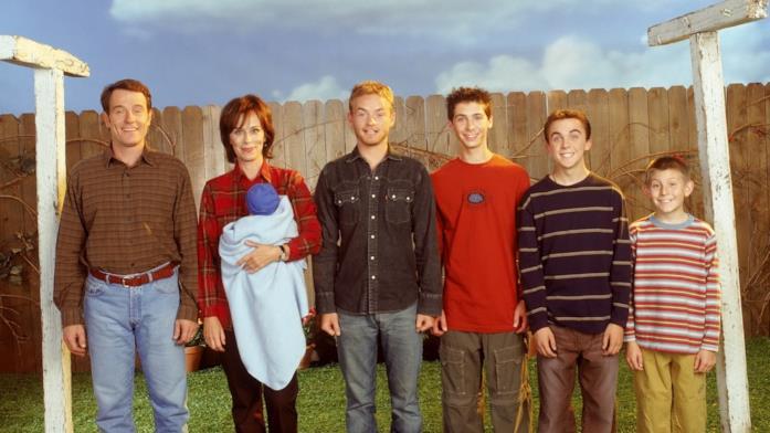 Hal, Lois, Francis, Rees, Malcolm e Dewey in un'immagine promozionale di Malcolm