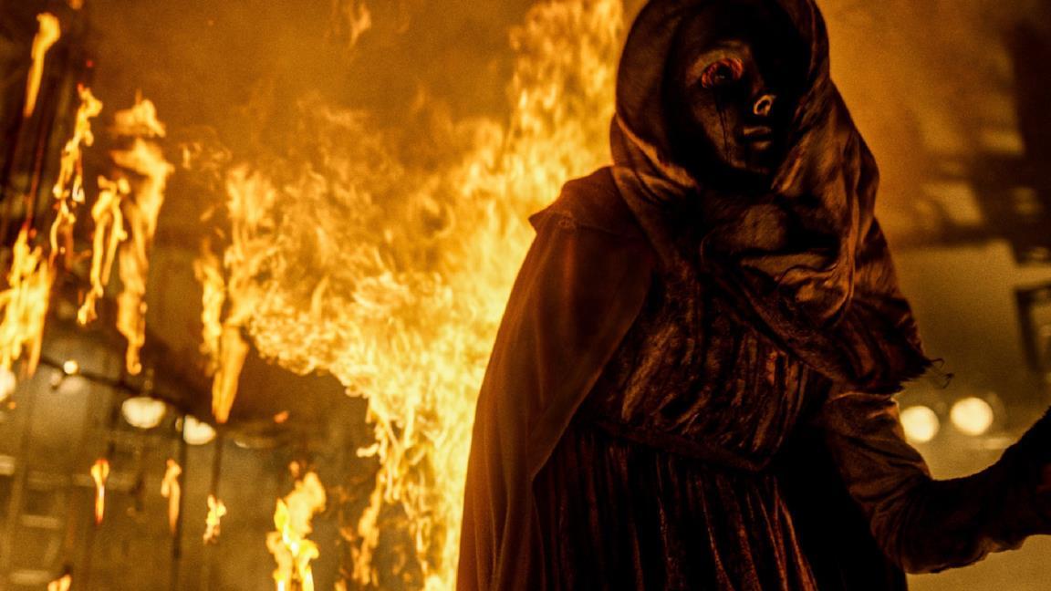 Jeffrey Dean Morgan in una scena del film Il sacro male