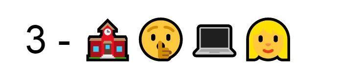 Emoji Scuola silenzio computer ragazza