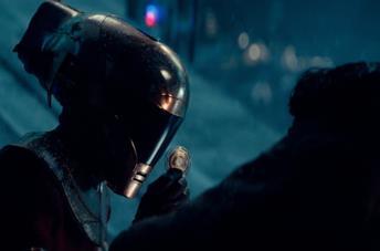 Keri Russell in una scena di Star Wars: L'ascesa di Skywalker