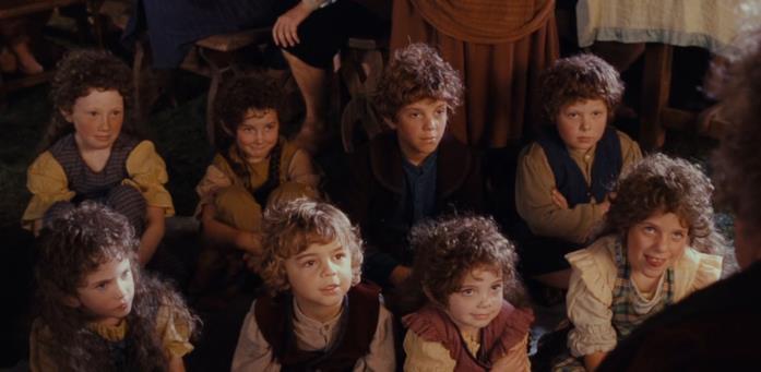 I bambini visti ne Il Signore degli Anelli