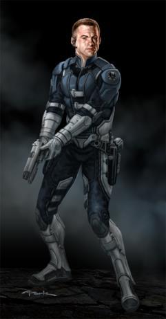 Andy Park ha disegnato una versione alternativa del costume per gli agenti dello S.H.I.E.L.D.