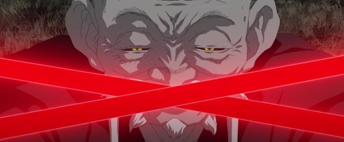 Un anziano Sith con due spade laser rosse