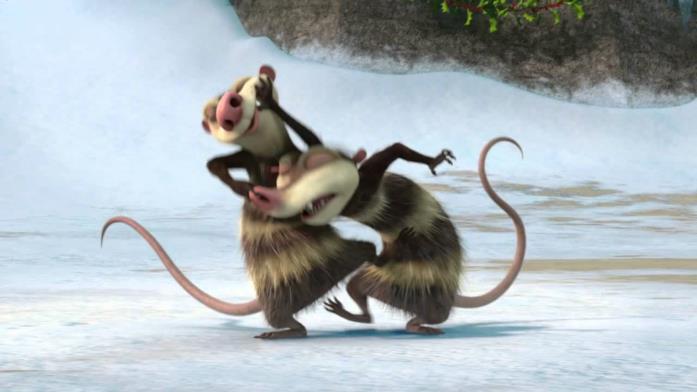 Crash e Eddie, protagonisti de L'era glaciale 3 - L'alba dei dinosauri