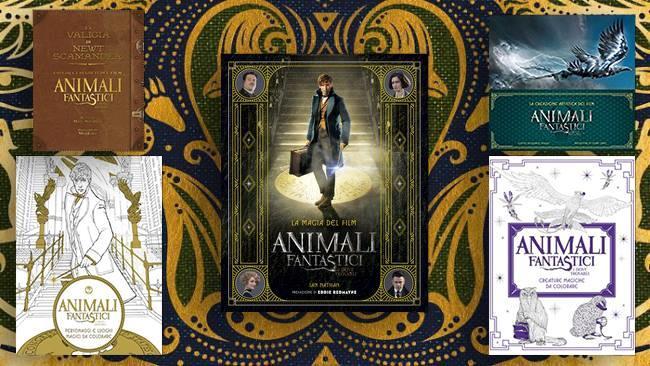 I cinque volumi dedicati ad Animali Fantastici e Dove Trovarli