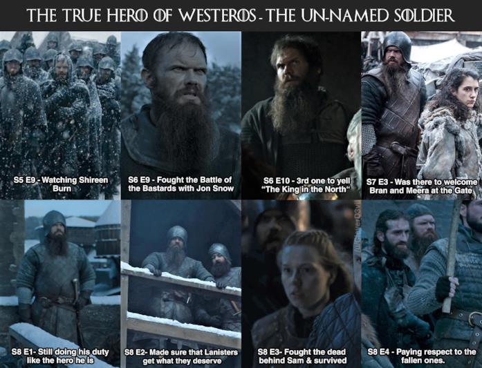 Andrew, il soldato Stark, in diversi momenti da comparsa