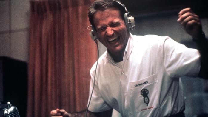 Robin Williams nel film cult Good Morning, Vietnam