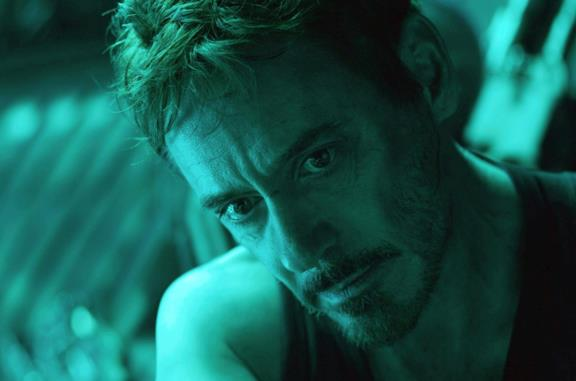 Un primo piano di Robert Downey Jr. in Avengers: Endgame