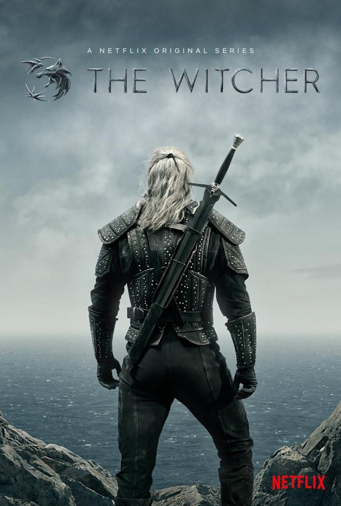 Henry Cavill di spalle nella locandina di The Witcher