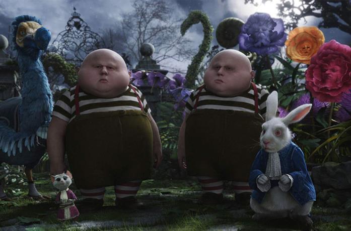 Una scena di Alice in Wonderland