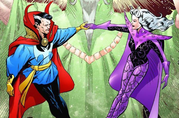 Doctor Strange e Clea in una tavola Marvel Comics