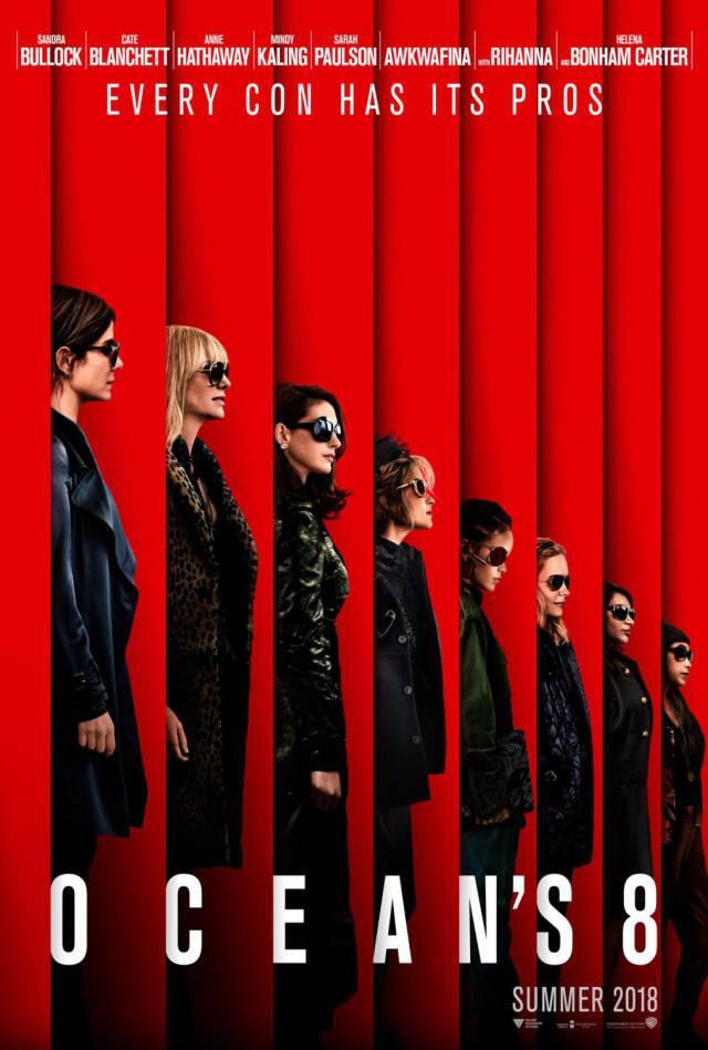 Sandra Bullock assieme al resto del cast nella locandina ufficiale di Ocean's 8