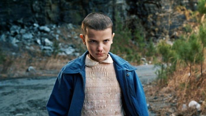 Primo piano di Millie Bobby Brown in Stranger Things