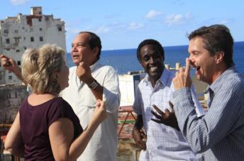 I protagonisti del film Ritorno a L'Avana
