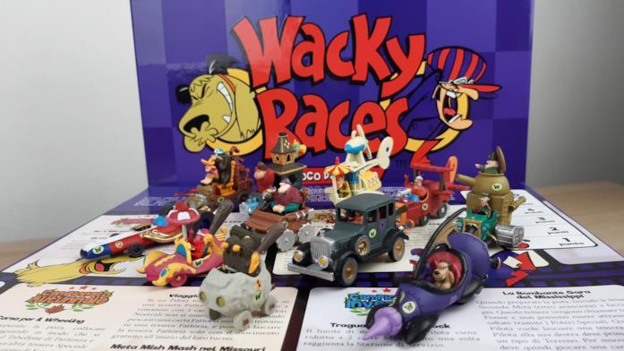 Le miniature dell'edizione Deluxe del gioco di Wacky Races