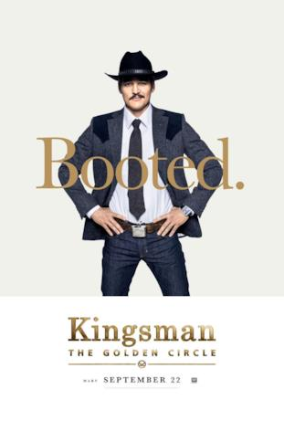 Agente Whiskey (Pedro Pascal) nel character poster di Kingsman 2