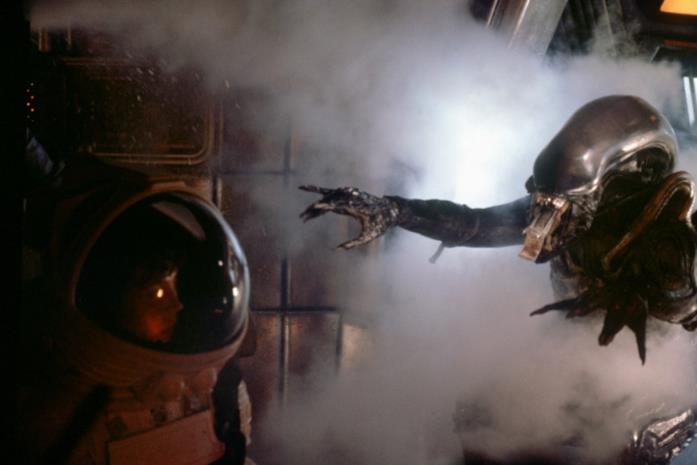 Una scena del film Alien, del 1979