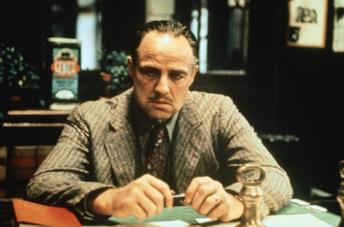 Marlon Brando è don Vito Corleone ne Il padrino