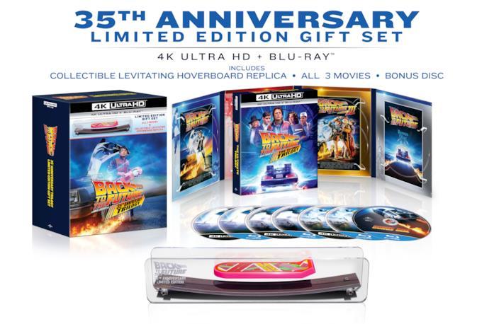 Un'immagine della Gift Edition della Back to the future Trilogy