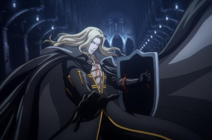 Alucard combatte contro alcuni demoni